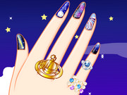 Galaxy Nail Art Designs Game