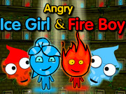 Angry Ice Girl and Fire Boy Game